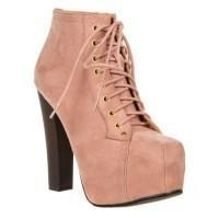 China Breckelle's Britney-01 Lace-up Boots Nude on sale
