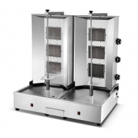 China Vertical broiler HGV-B26 Dual 3 Burners Gas Kebab Machine on sale