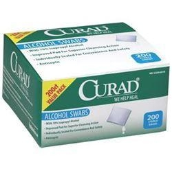 China Curad Alcohol Swabs 1 x 1, 2-ply with 70% Isopropyl Alcohol on sale