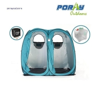 China PO-ST009 Product name:pop up twin shower ensuite tent on sale