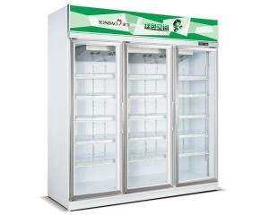 China BEVERAGE COOLER VENTILATED UPRIGHT SHOWCASE ALUMINUM ALLOY DOOR FRAME(3 DOORS) on sale