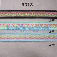 China B018 knitting belt ladies shoes material on sale