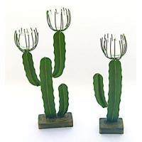 Metal Saguaro Cactus Votive Candlestick - 2 sizes