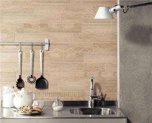 China Wood Grain Ceramic PlanksBathroom Tiles 15X90 Cm on sale