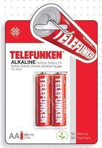 China Telefunken Alkaline LR6 AA Battery(2 PACK) on sale