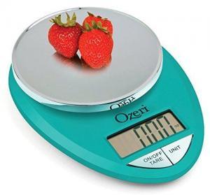 China Ozeri ZK12-T Pro Digital Kitchen Food Scale, 1g/12 lb, Teal Blue on sale