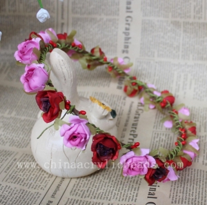 China New Handmade 16-18CM pink&red color artificial flo--FHC013 on sale