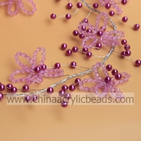 China flower crystal artificial wired branch garland for--SL001- flower bead on sale