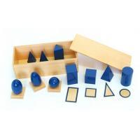 montessori MM014 Blue Geometric Solids with Box