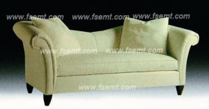 China Factory Custom Made Full Fabric Wooden Hotel Lobby Sofa on sale