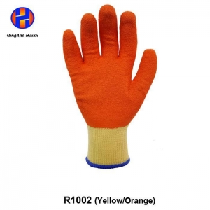 China 10 Gauge Fine Yarn Liner with Latex Coated Safety Work Gloves on sale