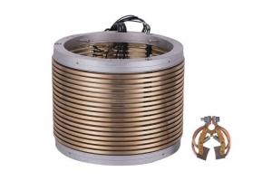 China High current carbon brush slip rings with separate carbon brush rotary joint on sale
