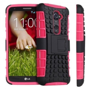 China Hybrid TPU + PC Kickstand Case for LG G2 on sale