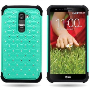 China Hybrid Dual Layer Diamond Case for LG G2 on sale