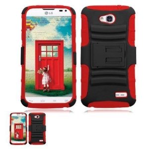 China Hybrid Kickstand Case + Holster Combo for LG Optimus L70 on sale
