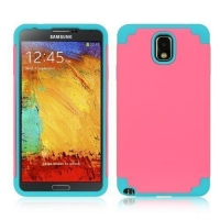 PC+silicone Rubber Coating Hybrid Skin Case for Samsung Galaxy Note 3