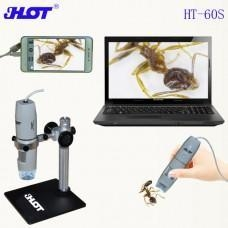 China HT-60S Portable Monitor Digital Microscope USB hand-held WIN8 WIN10 Mac OS system on sale