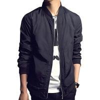 Men Jackets BINGKA Mens Bomber Jacket Softshell Sportswear Lightweight Slim Jacket Coat