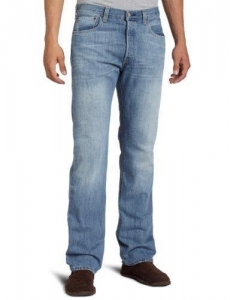 China Levi's Men's 501 Original Fit Jean, Light Mist, on sale