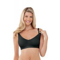 China Body Silk Seamless Nursing Bra Black LG on sale