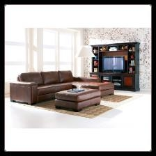 China Easton - Brown Leather Sectional Set by Coaster on sale