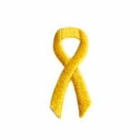 Bumper Stickers Yellow Ribbon Embroidered Stick-ons - 25-pack