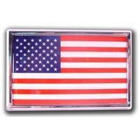 China Bumper Stickers American Flag - Chrome Emblem Frame on sale