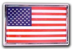 China Bumper Stickers American Flag - Chrome Emblem Frame on sale
