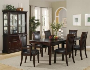 China 86 Tunbridge Warm Walnut Dining Table w/ Chairs on sale