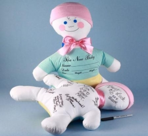 China Personalized Baby Gifts Baby Shower Keepsake Autograph Doll-Baby Girl Gift on sale