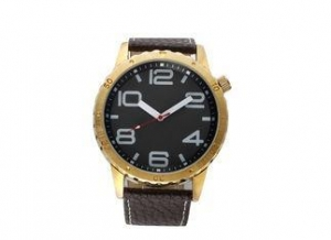 China Fashion Big Face Analogue Leather Quartz Watch With Japan Movt / Battery on sale
