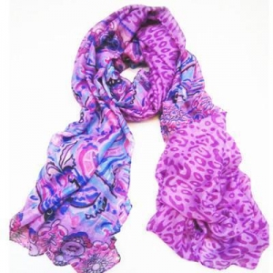 China Scarf & Tippet SLP020 Beach Wrap Volet Flowery Sarong Pareo on sale