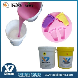 China Skin safe liquid moldable silicone rubber for soap molds making on sale