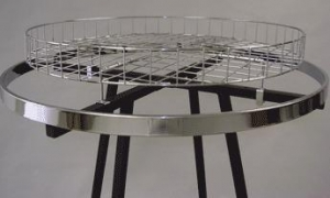 China 30 round basket for top of round racks - 1 per box - Chrome on sale