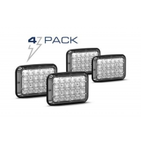 Dash/Deck Lights 4 Pack of Feniex Wide-Lux 6X4 Surface Mount Light