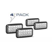 Dash/Deck Lights 4 Pack Feniex Wide-Lux 7X3 Surface Mount Light