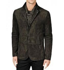 China Star Crossed Castor Suede Leather Coat on sale