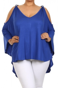 China Katya Cut-Out Top - ROYAL on sale
