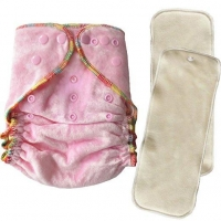 Bamboo Velour Diaper, Biodegradable Diaper, Baby Cloth Diaper Double Gusset