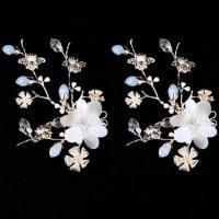 China New Design Flower Wedding Headpiece Bridal Hair Clip Piece Bridal Hair Accessory on sale