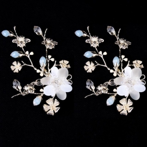 China New Design Flower Wedding Headpiece Bridal Hair Clip Piece Bridal Hair Accessory on sale