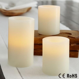 China Pillar wax candle soft flickering AA battery operated candle on sale