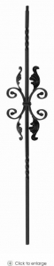 China Iron Balusters Double Twist Iron Baluster with Scroll 24-1 on sale