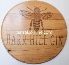 China Barrel Heads & Clocks Oak Barrel Head - Barrel end hangs flat on the wall on sale