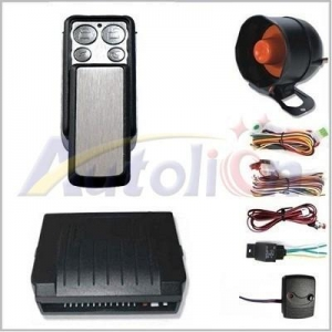 China Car Alarm One Way Car Alarm System With Cenral Lock Built-In on sale