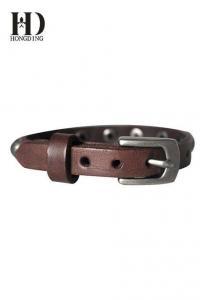 China Custom Leather Bracelets for Men on sale