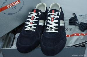 China Men shoes Prada Scamosciato Nevada 1 Blue Sneackers Tennis Shoes fashion sneaker mens sale on sale