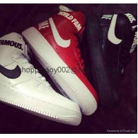 Men shoes Nike Supreme Air Force 1 SP High top men Women af1 World Famous sneaker Shoes