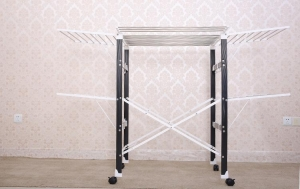 China Multifunctional folding clothes rack drying clothes rack quilt rack on sale