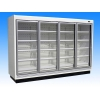 China Ultra-thin Glass Door Freezer / Glass Door Chiller for sale